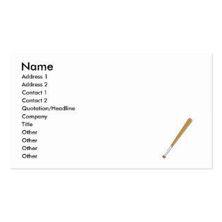 Baseball Bat Pack Of Standard Business Cards