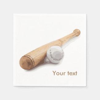 Baseball bat paper napkin