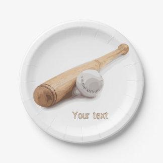 Baseball bat paper plate