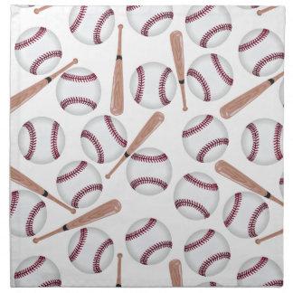 Baseball bat pattern napkins