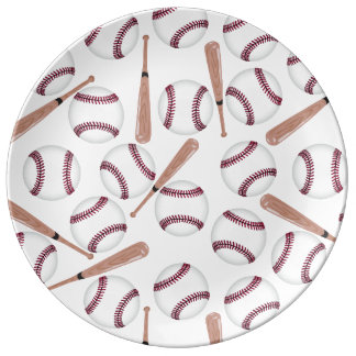 Baseball bat pattern plate