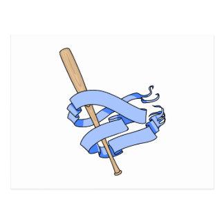 baseball bat pennant postcard