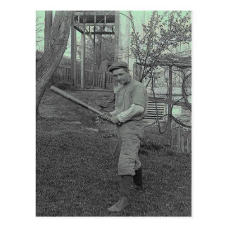 \Baseball Bat Photography Vintage Father's Day Postcard
