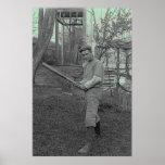 Baseball Bat Photography Vintage Father's Day Print