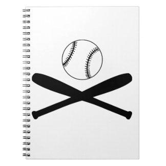 Baseball Bats and Ball Spiral Notebook