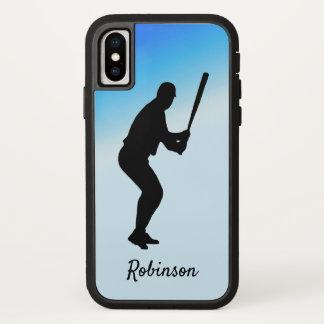 Baseball Batter Blue Sports Personalized iPhone X Case