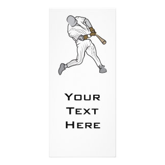 baseball batter graphic customized rack card