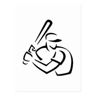 Baseball Batter Outline Postcard
