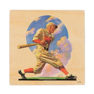 Baseball Batter Wood Coaster