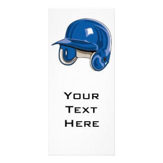 baseball batters helmet blue rack card design