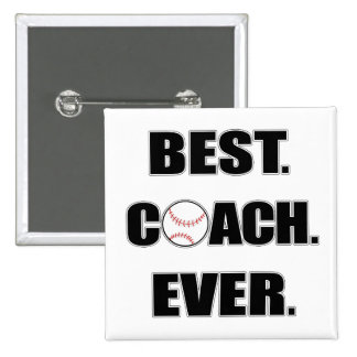 Baseball Best Coach Ever 15 Cm Square Badge