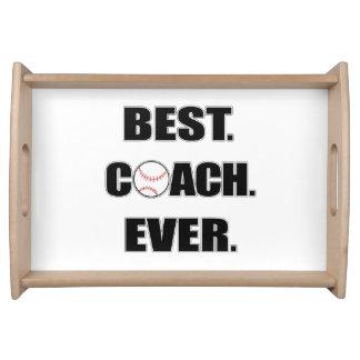 Baseball Best Coach Ever Service Tray