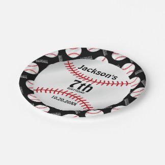 Baseball Birthday Design   Personalize Paper Plate