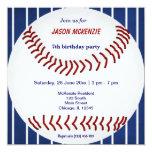 Baseball Birthday 13 Cm X 13 Cm Square Invitation Card