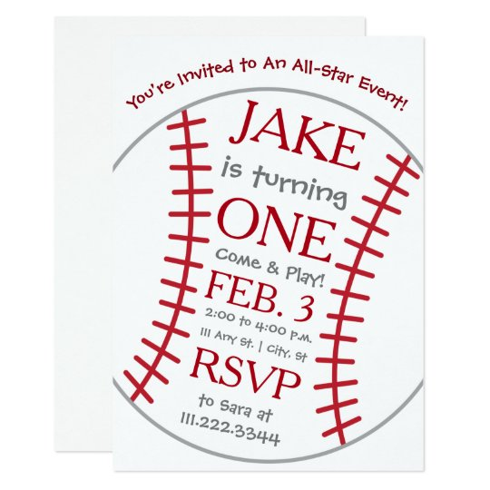 Baseball Birthday Invite- Special Bday Invitation