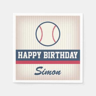 Baseball Birthday Paper Napkins