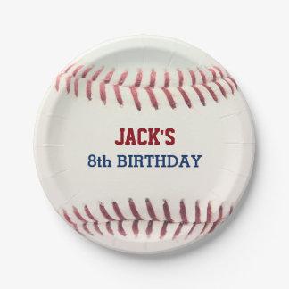 Baseball Birthday Paper Plate