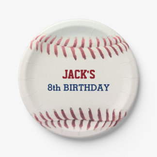 Baseball Birthday Paper Plate 7 Inch Paper Plate