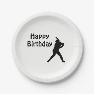 Baseball Birthday Party Paper Plate