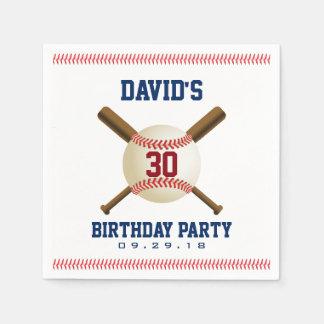 Baseball Birthday Party Sports Theme Paper Serviettes