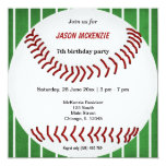 Baseball Birthday Personalised Announcements