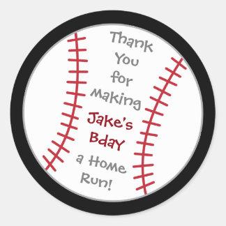 Baseball Birthday Sticker- Special Bday Labels Round Sticker