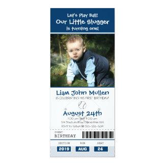 Baseball Birthday Ticket 10 Cm X 24 Cm Invitation Card