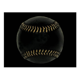 baseball black postcard
