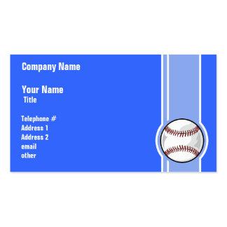 Baseball; Blue Pack Of Standard Business Cards
