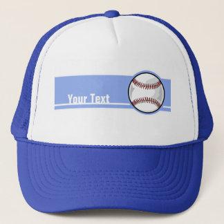 Baseball; Blue Trucker Hat