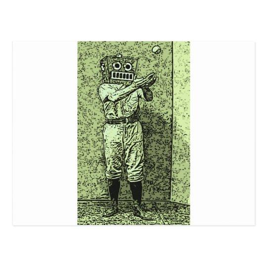 Baseball Bot Postcard