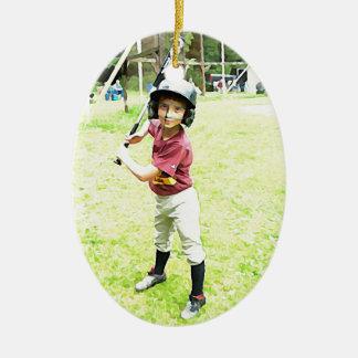 Baseball Boy Christmas Ornament