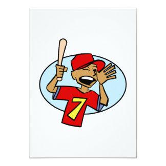 Baseball Boy 13 Cm X 18 Cm Invitation Card