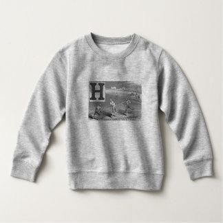 Baseball Boys Initial H Sports High Ball Vintage Sweatshirt
