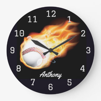 Baseball Boy's Room Personalized Large Clock