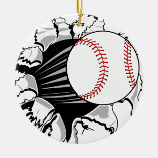Baseball Breakthrough Round Ceramic Decoration