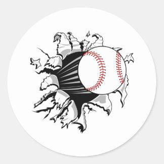 Baseball Breakthrough Round Sticker