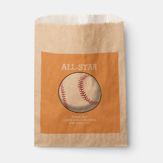 Baseball Bridal Shower Favor Bags