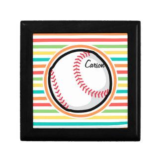 Baseball Bright Rainbow Stripes Gift Boxes