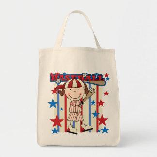 BASEBALL Brunette Girl Tshirts and Gifts Tote Bag