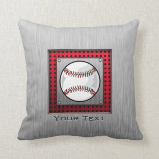 Baseball; Brushed Aluminum look Cushion