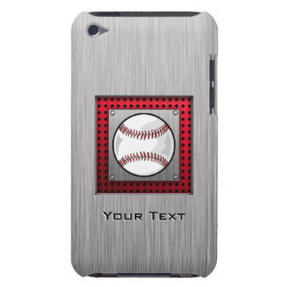 Baseball; Brushed Aluminum look iPod Touch Covers
