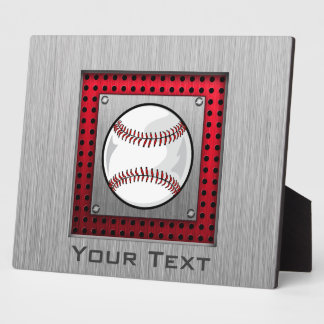 Baseball; Brushed Aluminum look Plaque