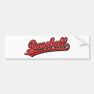 Baseball Bumper Sticker