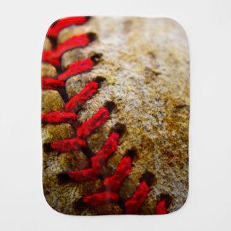Baseball burp rag burp cloth