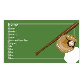 Baseball - Business Pack Of Standard Business Cards