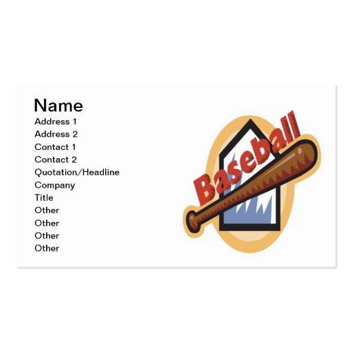 Baseball Business Card Templates