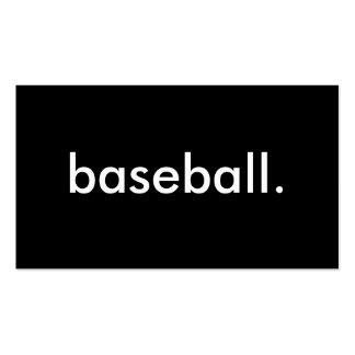 baseball. business card templates