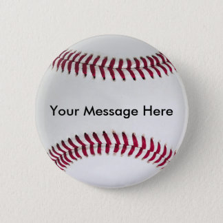 Baseball Button with your message