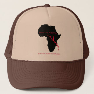 Baseball Cap    Africa Map- Blood